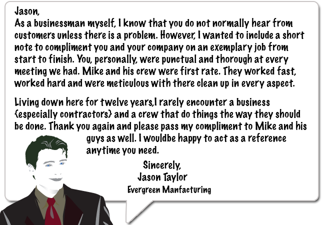 Male Testimonial on Roofing